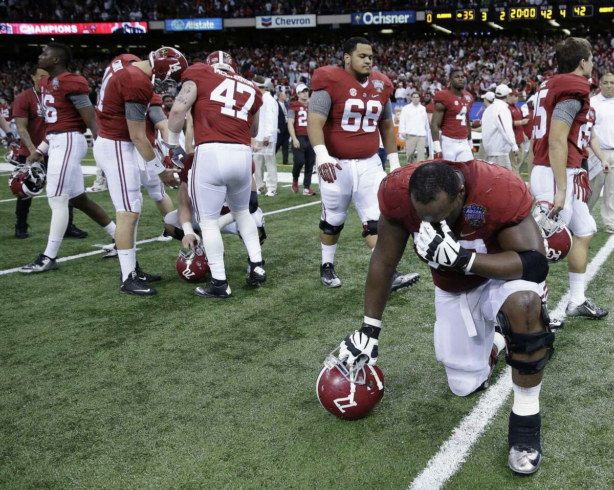 Alabama lost 42-35 to Ohio State in the Sugar Bowl on Thursday in New Orleans.