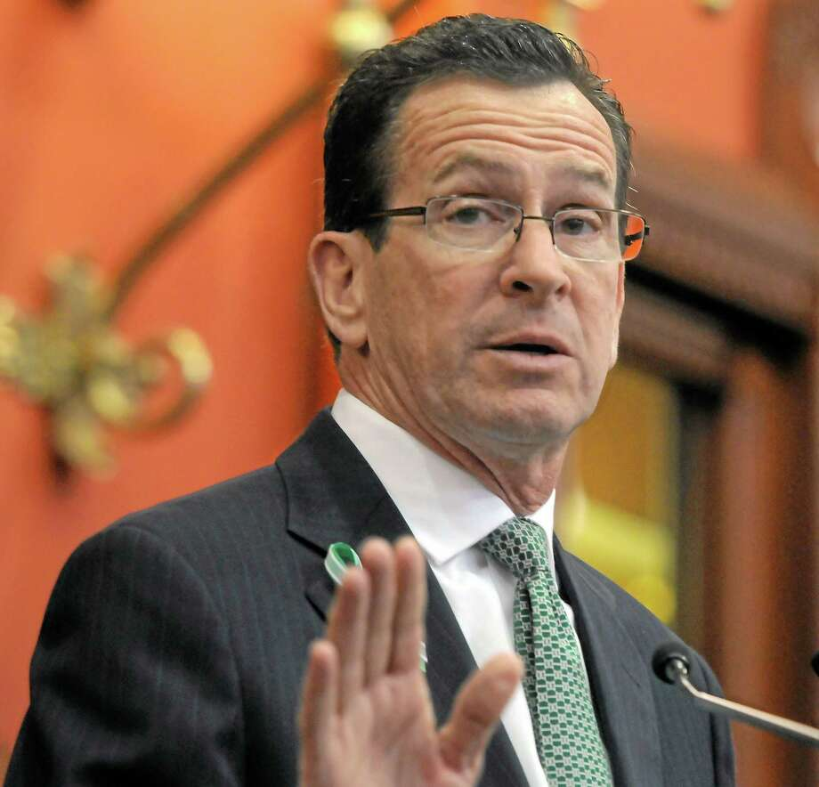 Gov. Dannel P. Malloy addresses the Connecticut legislature in this 2013 file photo. Photo: New Haven Register File Photo