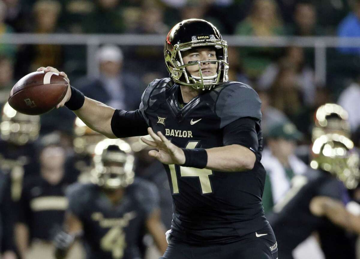 The New York Jets have drafted Bryce Petty with their fourth-round pick, moving up one spot Saturday in a trade with the Jacksonville Jaguars.