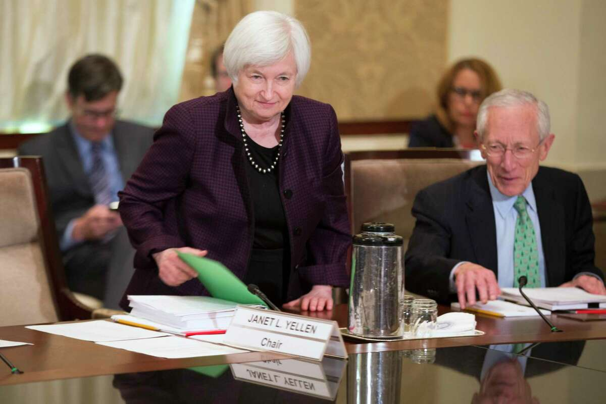 Federal Reserve Chair Janet Yellen arrives for a meeting of the Board of Governors of the Federal Reserve Friday in Washington.