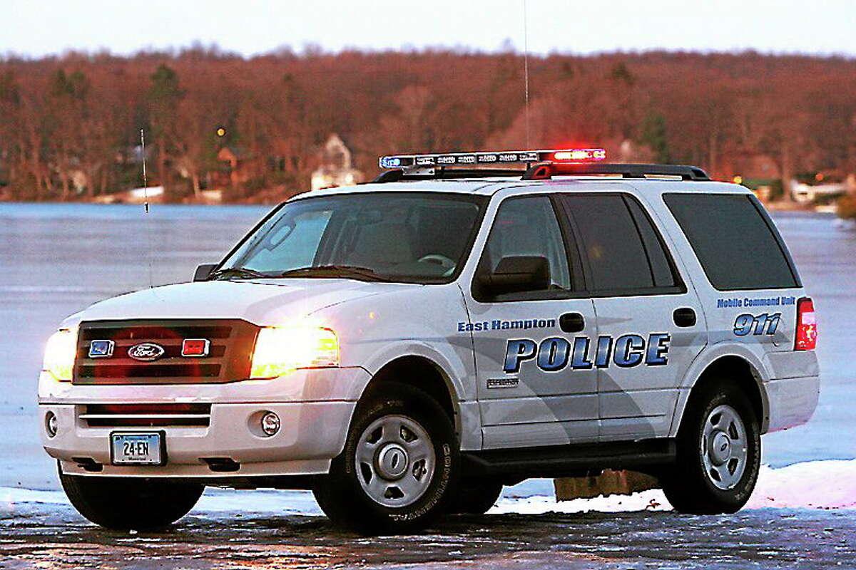 East Hampton police's newest recruit is wending his way through the 24-week police academy program in Meriden.