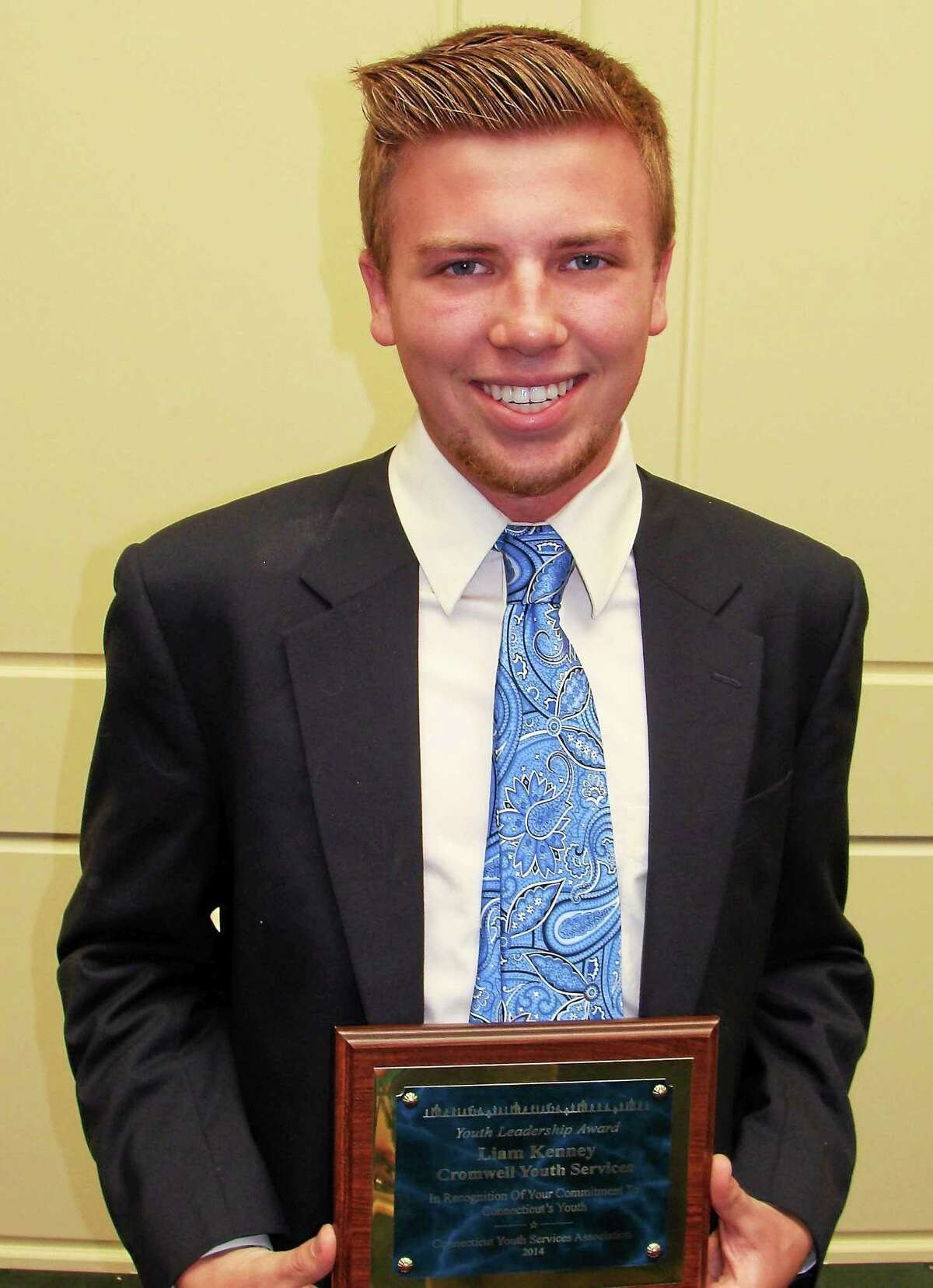 Liam Kenney of Cromwell received the 2014 Youth Leadership Award.