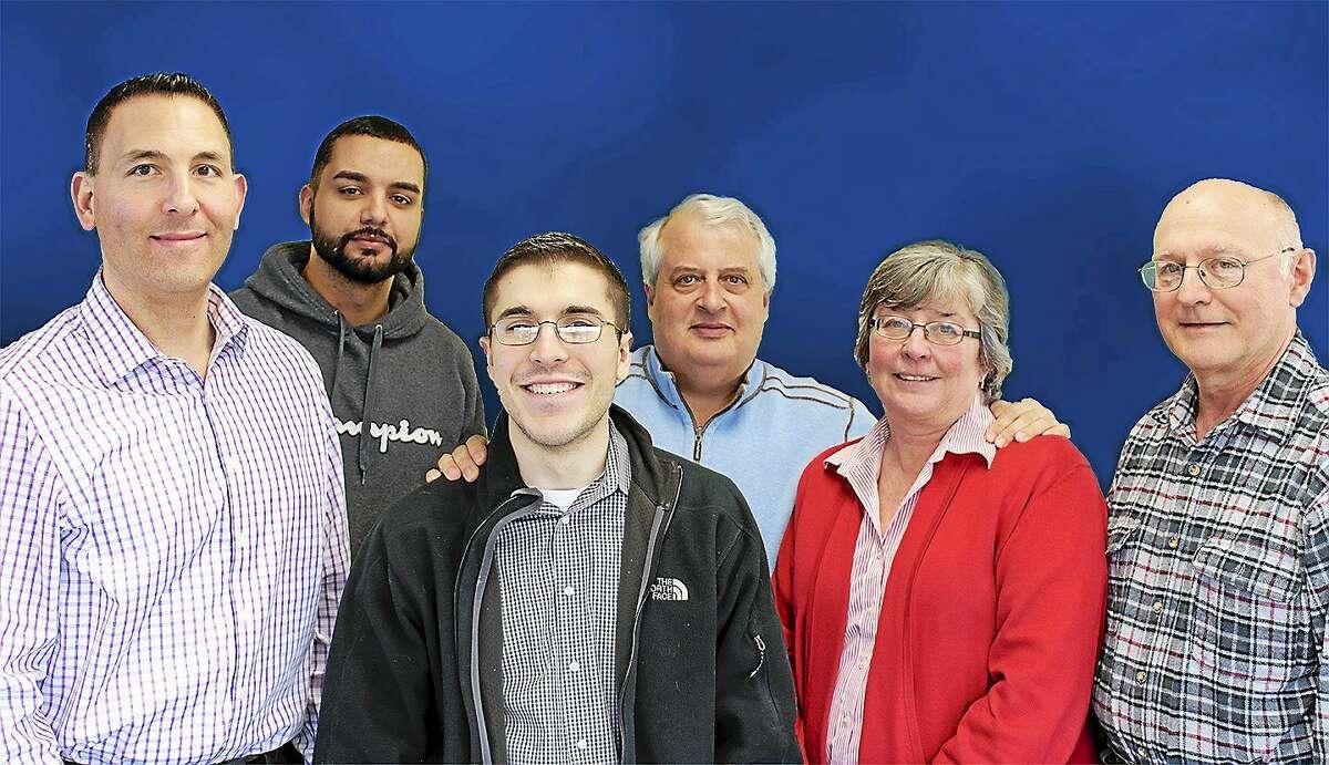 From left, Watson employees Johnpaul Tata, Jose Colon, Andrew Matsis, Michael Saulsberry, Terri Hausmann and John Kwasnik.