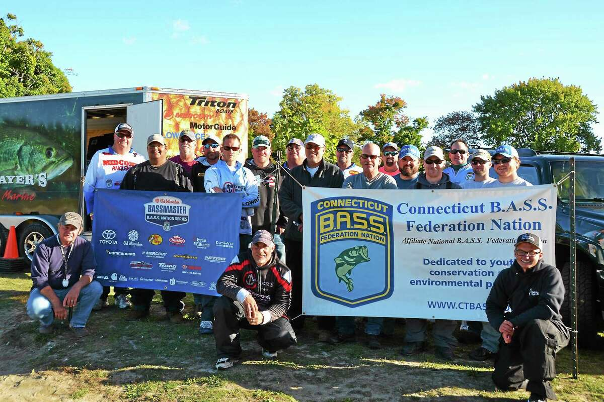 Here, Bailey poses with anglers who took part in the contest.