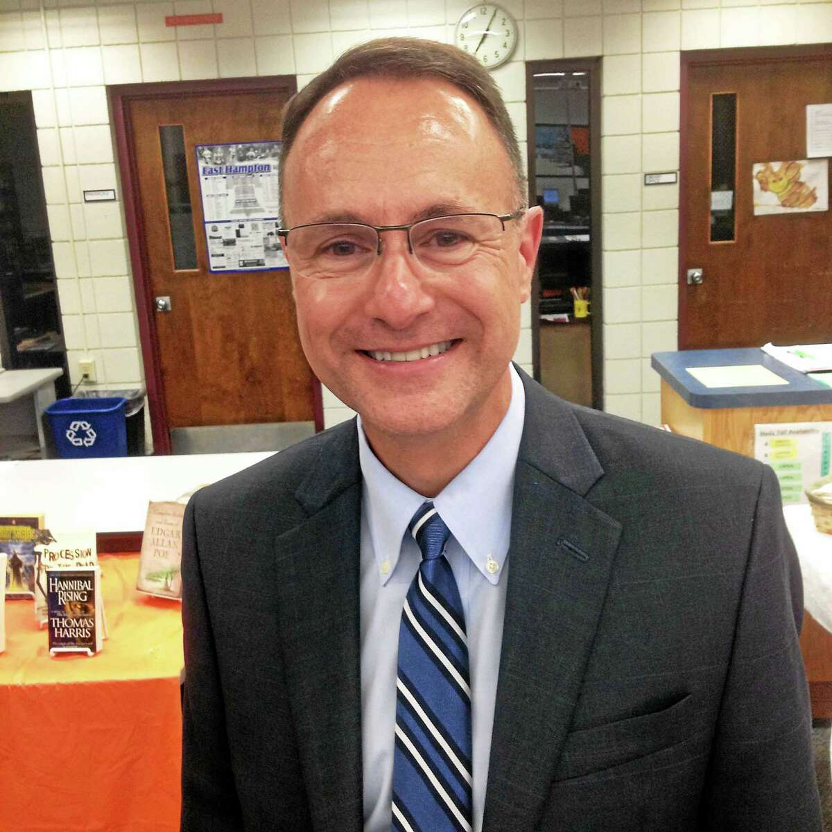 JEFF MILL — THE MIDDLETOWN PRESS Superintendent of Schools Paul Smith is stepping down from the Griswold system to head East Hampton's district, where he'll assume the post on the first of the year.
