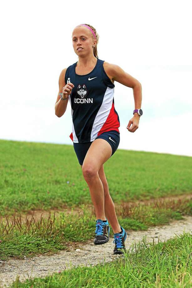 Bunnell grad and UConn senior Lauren Sara will try to win the American Athletic Conference cross country championship on Friday. Photo: Photo Courtesy Of UConn Athletics  / Stephen Slade