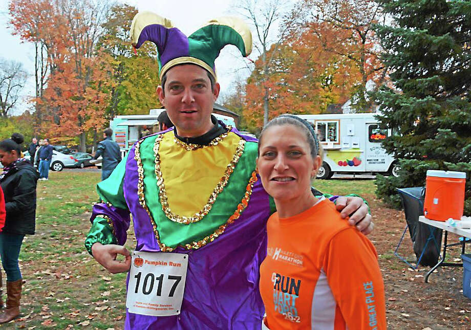 Halloween was the theme at the Pumpkin Run & Hartford Marathon Foundation FitKids races Sunday in Higganum, which gave participants the opportunity to don costumes or create their own, many scary and more than a few in jest. Photo: Contributed Photos