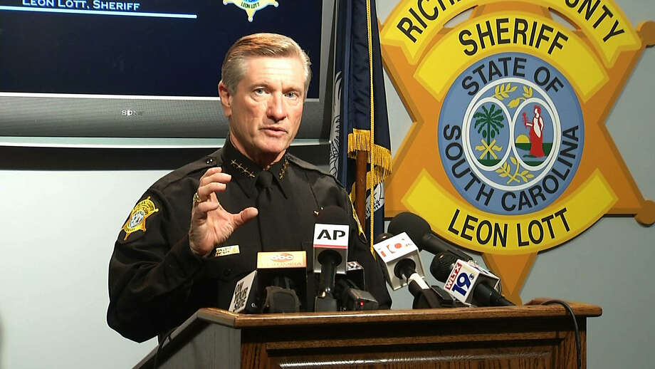In this image taken from video, Richland County Sheriff Leon Lott speaks during a press conference in Columbia, S.C., Tuesday, Oct. 27, 2015. Lott suspended Ben Fields, a senior deputy with the Richland County Sheriff's Department, without pay after a video showed Fields forcibly removing a student who refused to leave her high school math class at Spring Valley High School. Photo: AP Photo/Alex Sanz   / AP