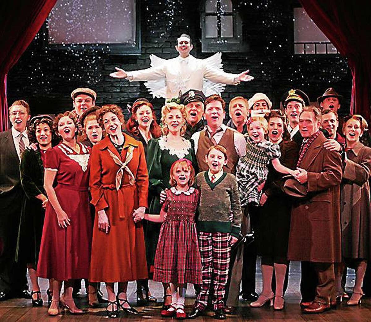 "Photo by Diane SobolewskiGoodspeed Musicals' cast of ""A Wonderful Life."""