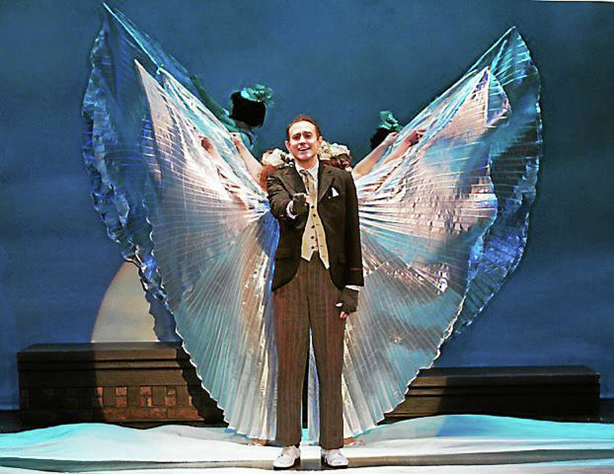 """Photo by Diane SobolewskiFrank Vlastnik plays the role of George Bailey's guardian angel, Clarence, in """"A Wonderful Life"""" at Goodspeed Musicals."""