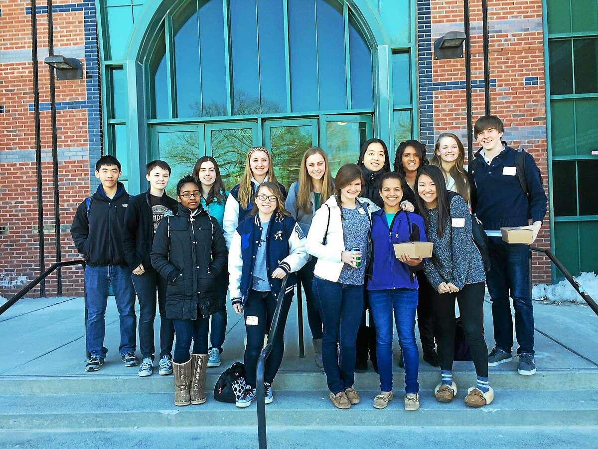 Middletown High School students won first place at the Chemistry Olympiad in Storrs recently.