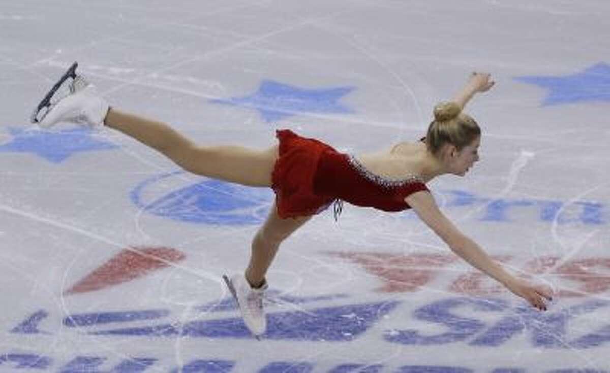 Gracie Gold skates during the women's short program at the U.S. Figure Skating Championships in Boston, Thursday.