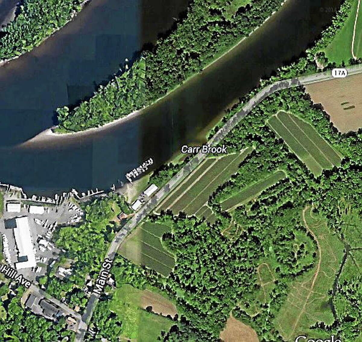 Google Earth Bridge repair work will begin over Carr Brook off 17A (Main Street) in Portland in May.
