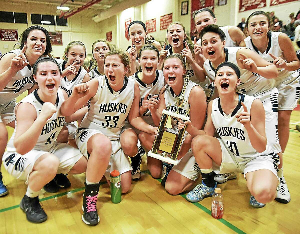 Morgan defeated Cromwell 53-52 in overtime Friday to win the Shoreline girls basketball championship.