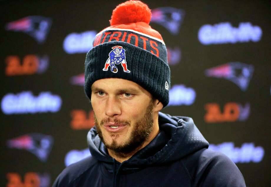New England Patriots quarterback Tom Brady speaks with reporters Tuesday in Foxborough, Mass. Photo: Steven Senne — The Associated Press  / AP