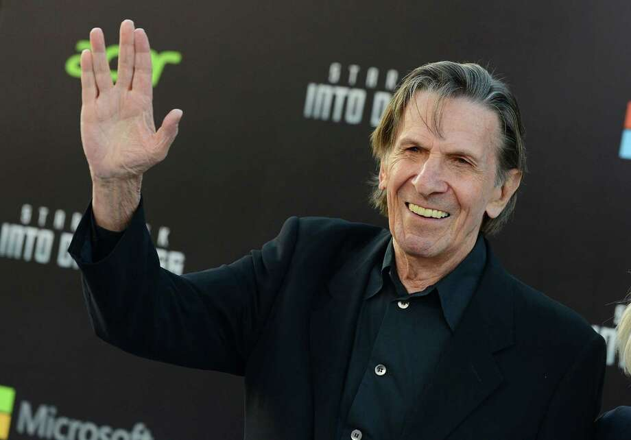 "FILE - In this May 14, 2013 file photo, Leonard Nimoy arrives at the LA premiere of ""Star Trek Into Darkness"" at The Dolby Theater in Los Angeles. Nimoy, famous for playing officer Mr. Spock in ìStar Trekî died Friday, Feb. 27, 2015 in Los Angeles of end-stage chronic obstructive pulmonary disease. He was 83. (Photo by Jordan Strauss/Invision/AP, File) Photo: Jordan Strauss/Invision/AP / Invision"