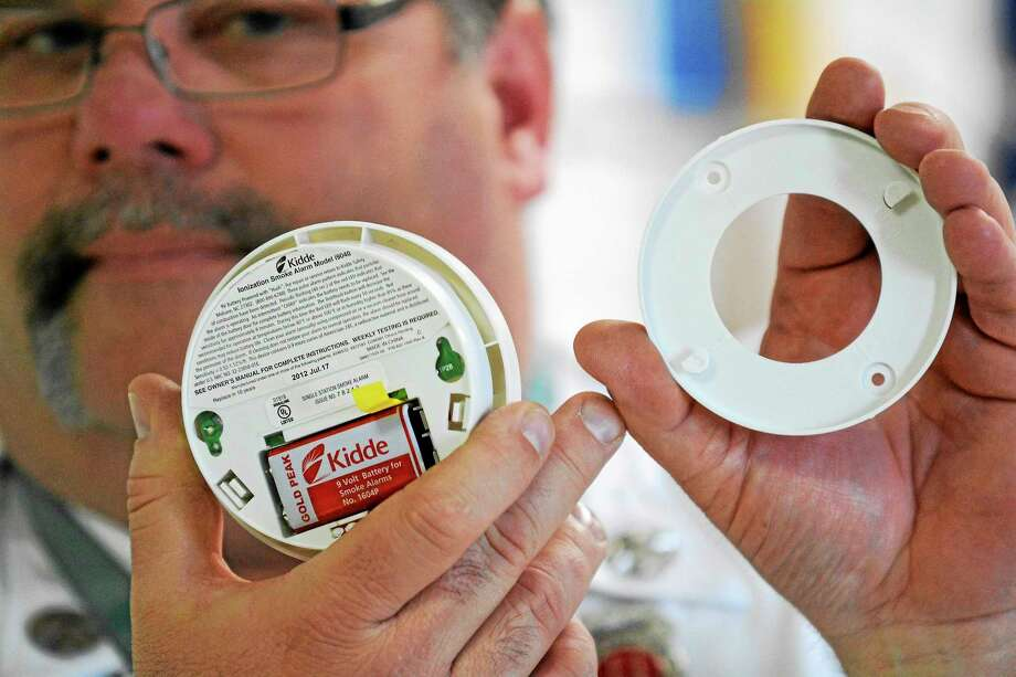 Replacing smoke detector batteries is advised once per year. Photo: File Photo