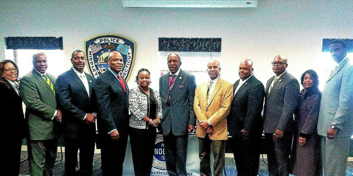 A swearing-in ceremony was held in Middletown recently by the Connecticut Chapter of the National Organization of Black Law Enforcement Executives.