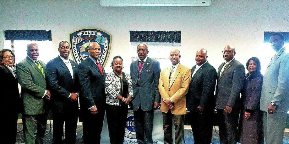 A swearing-in ceremony was held in Middletown recently by the Connecticut Chapter of the National Organization of Black Law Enforcement Executives. Photo: Courtesy Gary M. Wallace