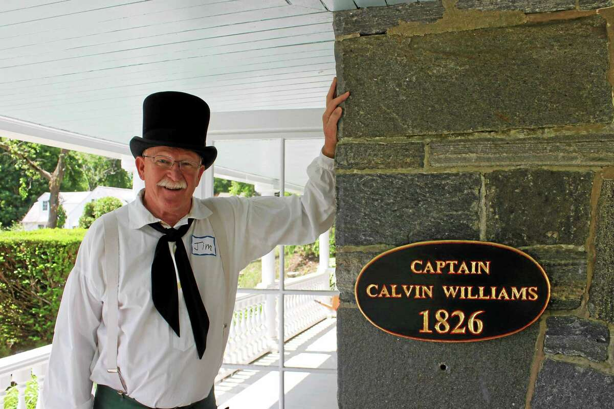 Jim Hogan is a guide on the Deep River Historical Society's tour of the town's waterfront.