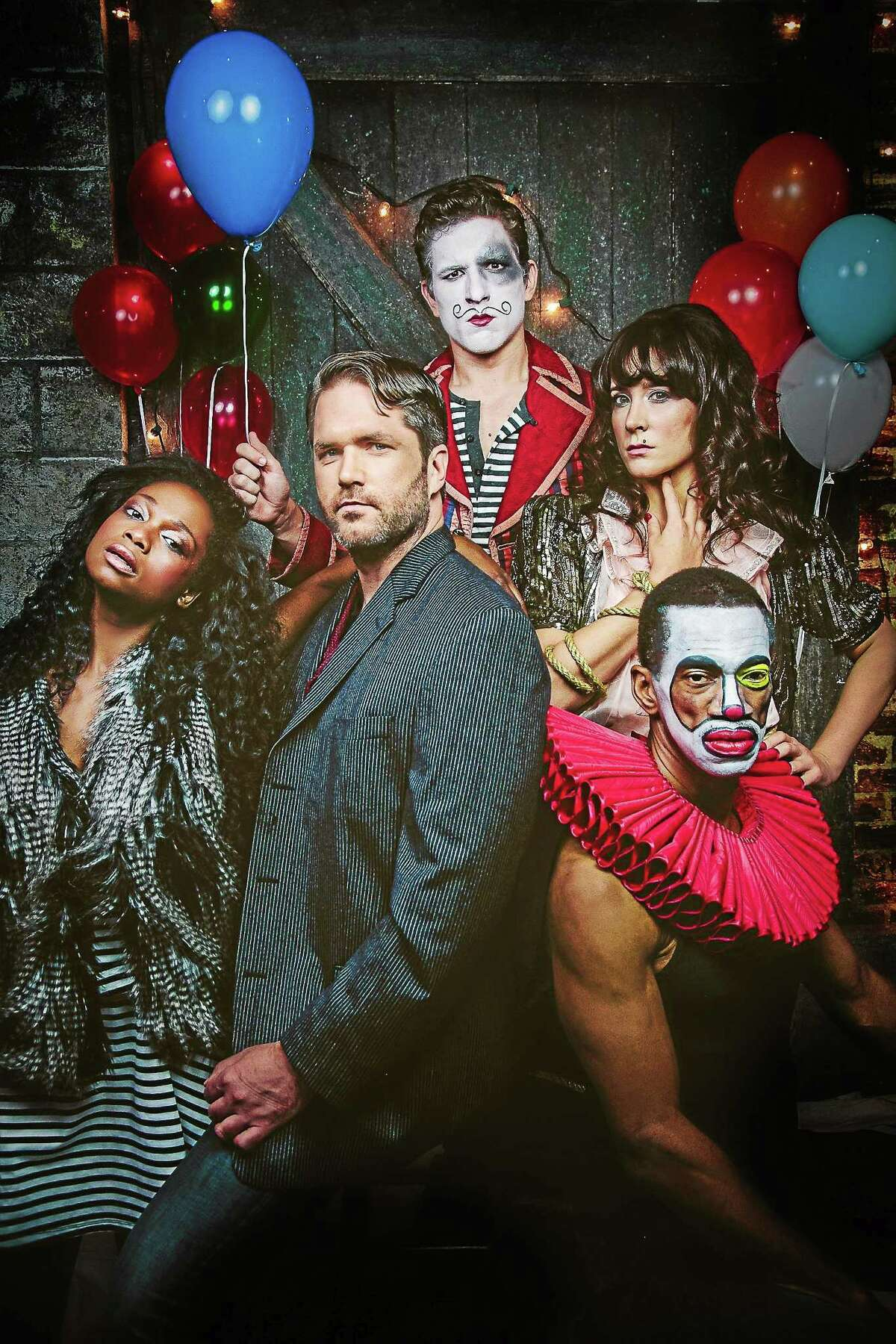 """Photo by EMMA The cast of """"The Circus in Winter,"""" from left, includes Shannon Antalan, James Penca, Dee Roscioli, Charles Gray and Aaron Ramey."""
