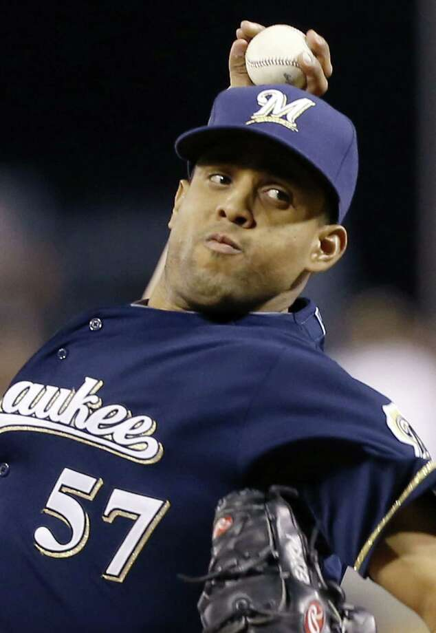 Francisco Rodriguez will be jogging out of the bullpen again for the Milwaukee Brewers. Photo: Keith Srakocic — The Associated Press File Photo  / AP