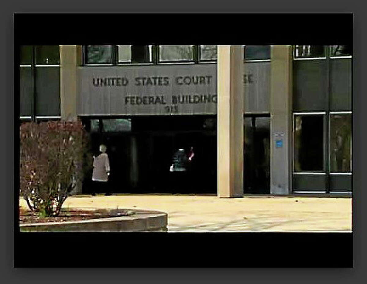 Screenshot of entrance to the Brien McMahon Federal Building in Bridgeport, Conn.
