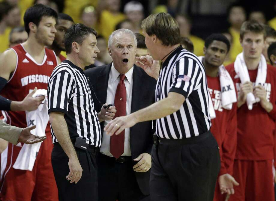 Wisconsin head coach Bo Ryan, center, said on Monday that he will retire after one more season with the Badgers. Photo: The Associated Press File Photo  / AP