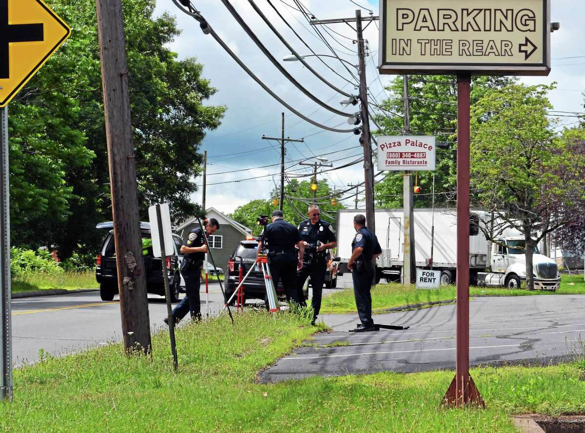 A 54-year-old woman was hit by a box truck in Middletown Monday morning.