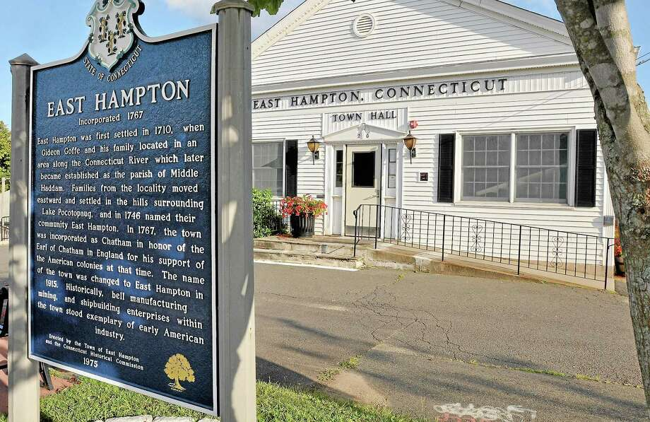 Connecticut Light & Power is offering $1 million in cash to buy back East Hampton Town Hall. Photo: Catherine Avalone — The Middletown Press  / TheMiddletownPress
