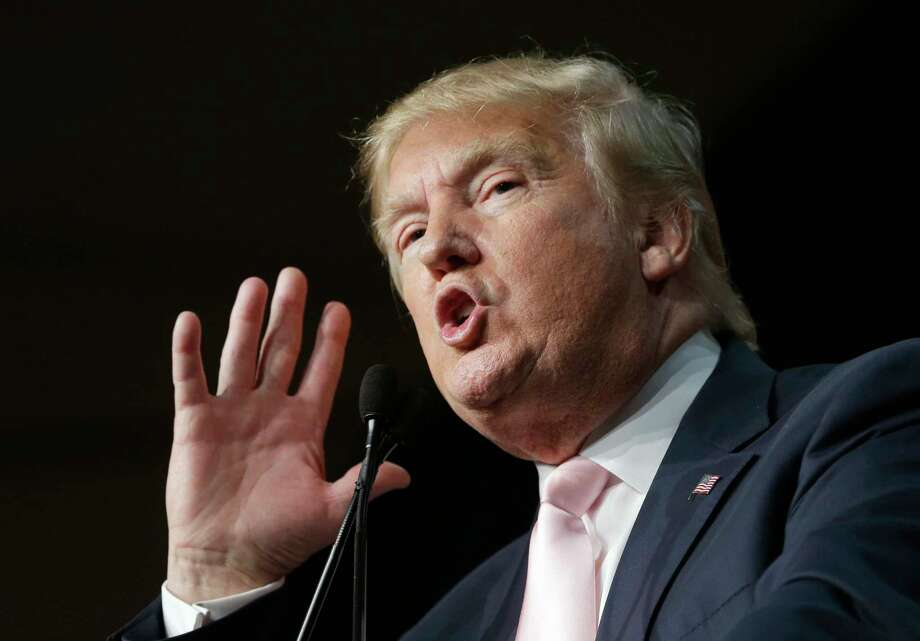 In this Oct. 23, 2015 photo, Republican presidential candidate Donald Trump speaks at the Trump National Doral Miami resort in Doral, Fla. Photo: AP Photo/Alan Diaz, File  / AP