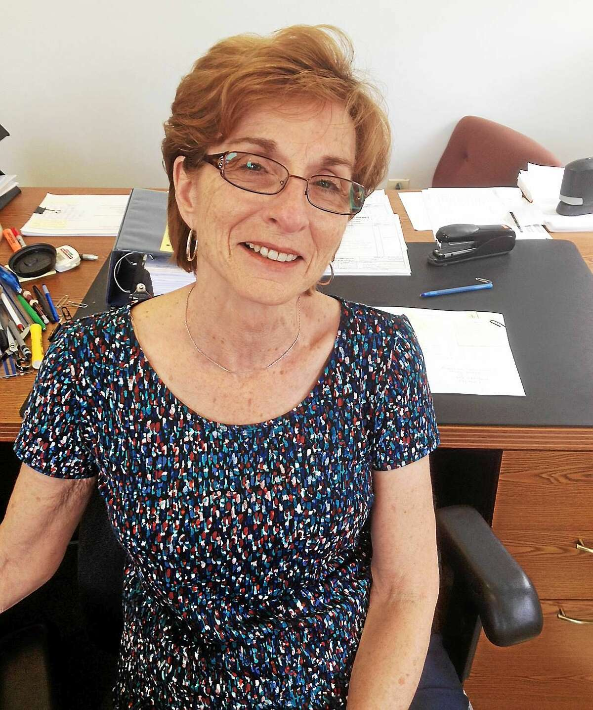 Lois DeBernardino , the assistant accountant at Cromwell Town Hall for the past 38 years says work has been her passion. Her retirement will allow her to spend more time with her three grandchildren.
