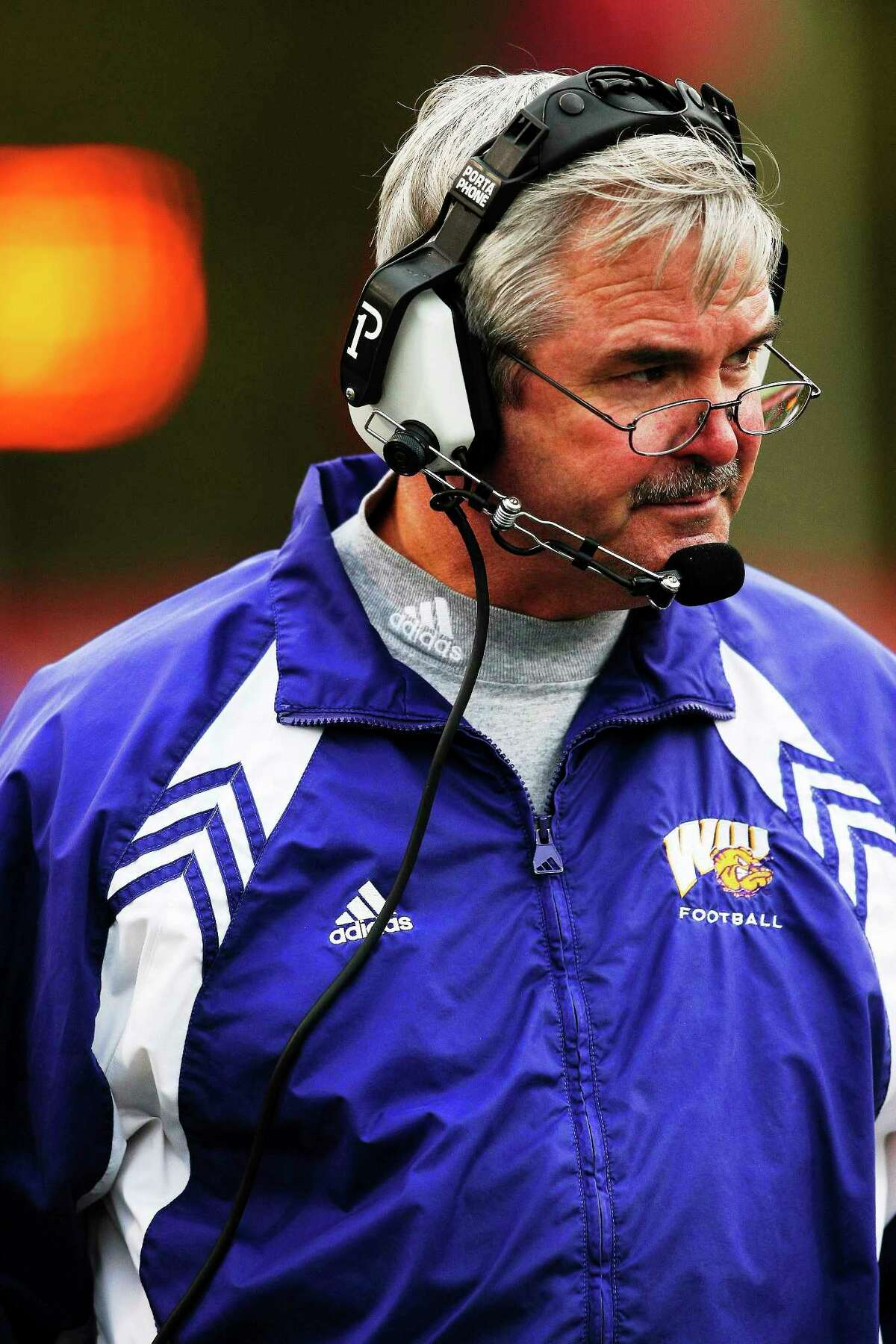 This Nov. 10, 2007 file photo shows Western Illinois head coach Don Patterson, who was hired by new UConn football coach Bob Diaco to be the associate head coach/quarterbacks coach with the Huskies.