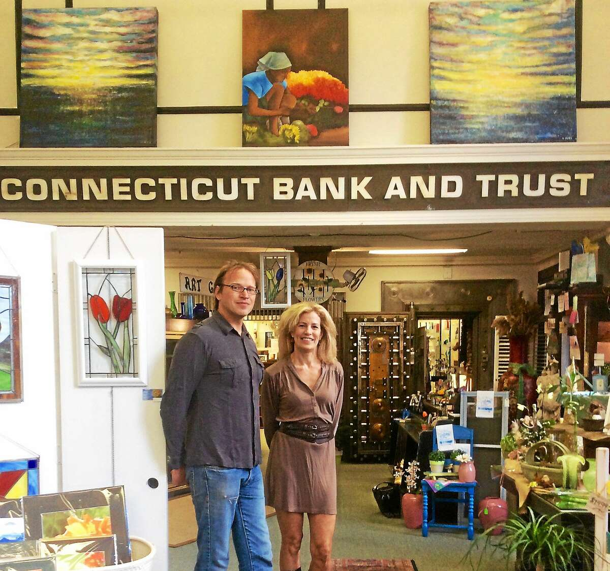 The Old Bank and Art Gallery in East Hampton is housed in the old Connecticut Bank and Trust building and the wealth of eclectic and hand-crafted items are displayed throughout — even in the old vault.
