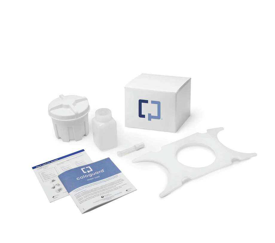 This undated product image provided by the Mayo Clinic shows the Cologuard test. The test is the first to look for cancer-related DNA in stool, and was approved by the Food and Drug Administration last month. It will be offered by prescription at the Mayo Clinic in Minnesota, where it was developed, and nationwide. Photo: AP Photo/Mayo Clinic  / Mayo Clinic