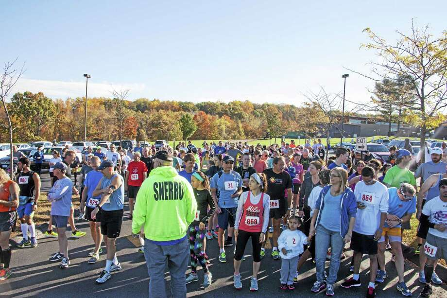 The Scholarship Road Race held Saturday at Middlesex Community College was attended by hundreds of runners and spectators Saturday in Middletown. Photo: Courtesy Photo