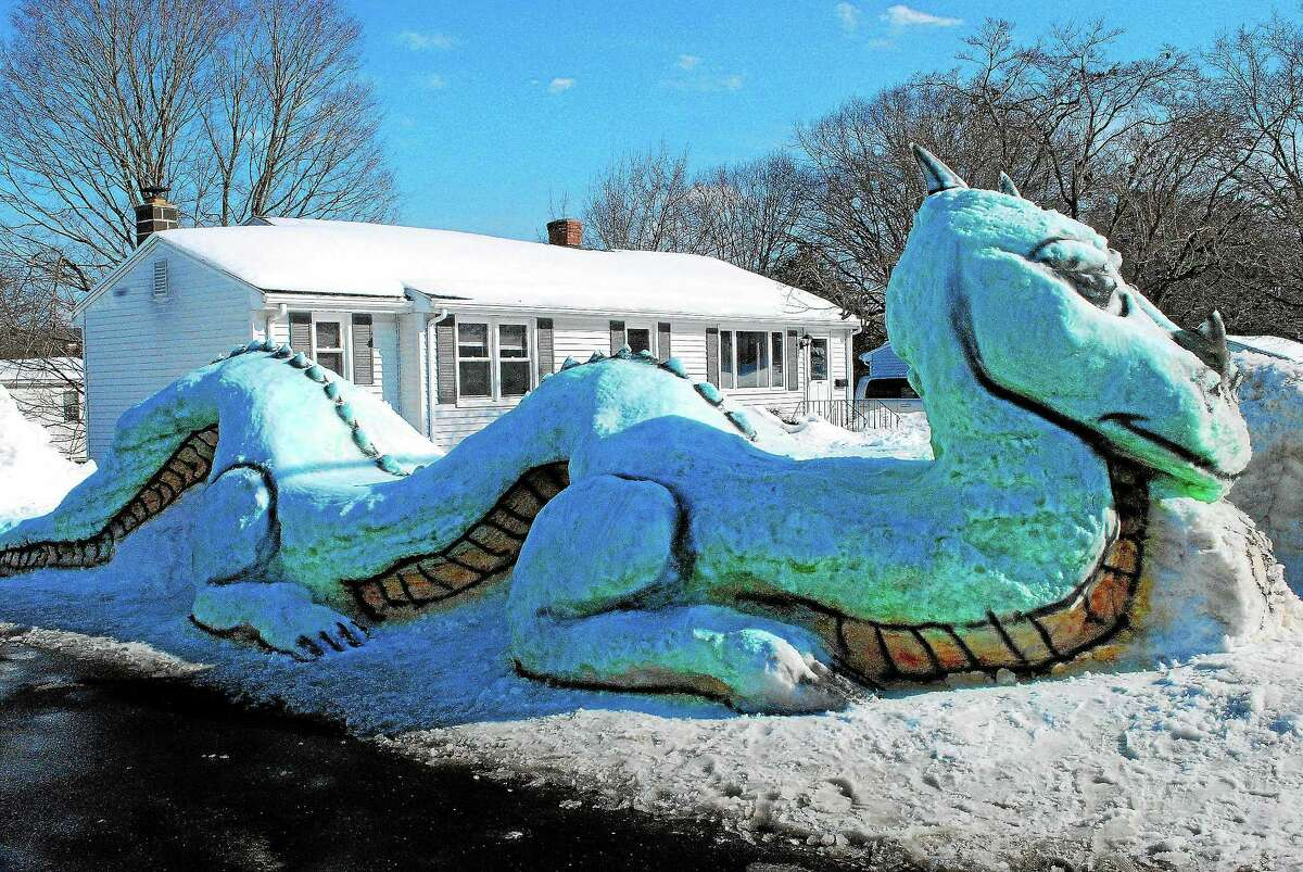Drake the Dragon is a short-term, cold-weather resident on Fowler Lane in Middletown.