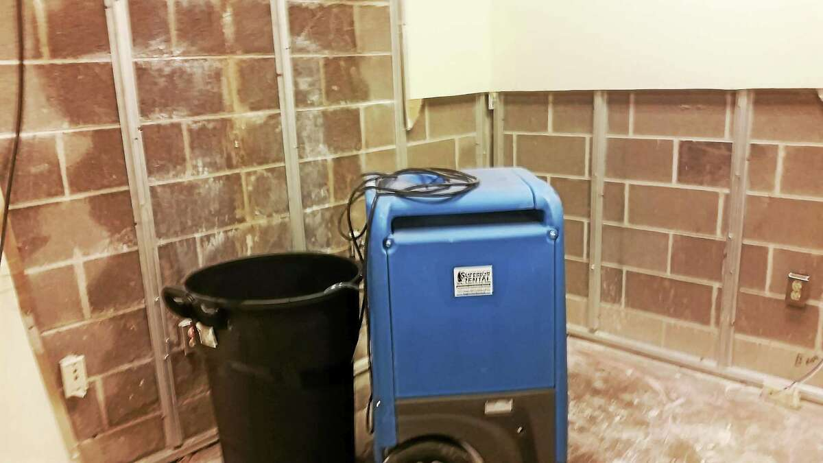 A room housed in the basement level of the Middletown Superior Court was gutted on Monday after unrestricted water flow over the weekend caused substantial damage.