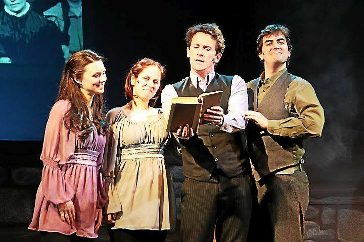 """Photo by Anne Hudson A St. Patrick's Day fundraiser for the Ivoryton Playhouse will include plenty of music and song. Above, from left, are Kathleen Mulready, Annie Kerins, Morgan Crowley and Michael McDermott in the 2011 production, """"The Irish …and How they got that Way."""""""