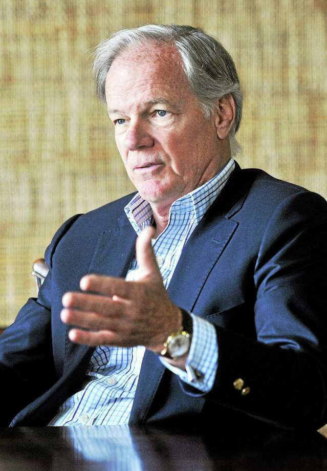 Tom Foley is interviewed at the New Haven Register on 6/11/2014. Photo: (Arnold Gold-New Haven Register)
