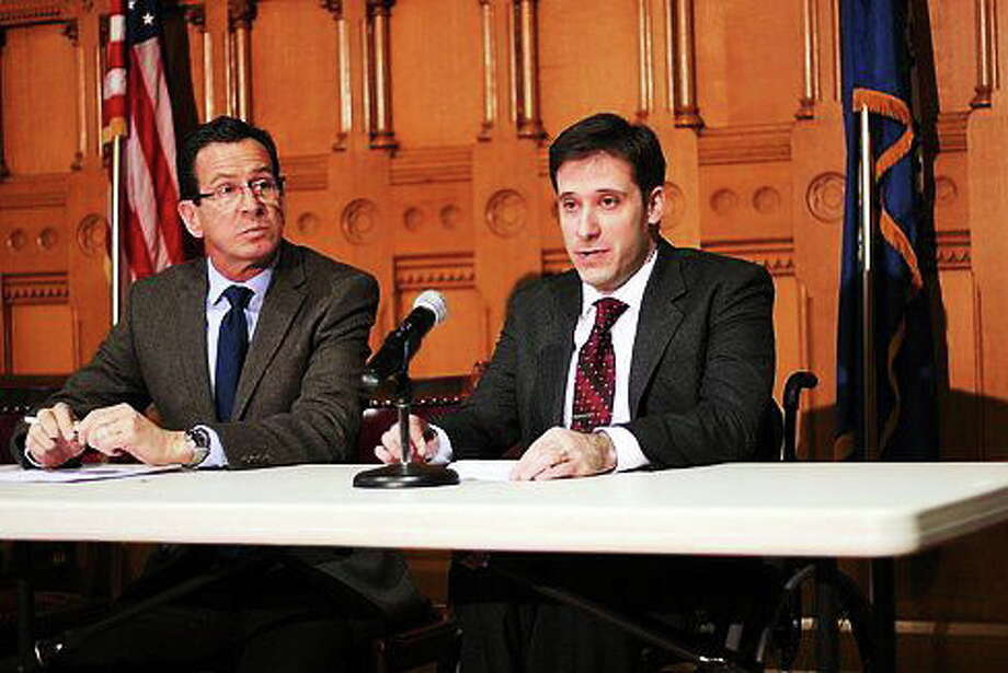 Jonathan Slifka and Gov. Dannel P. Malloy Photo: Journal Register Co.