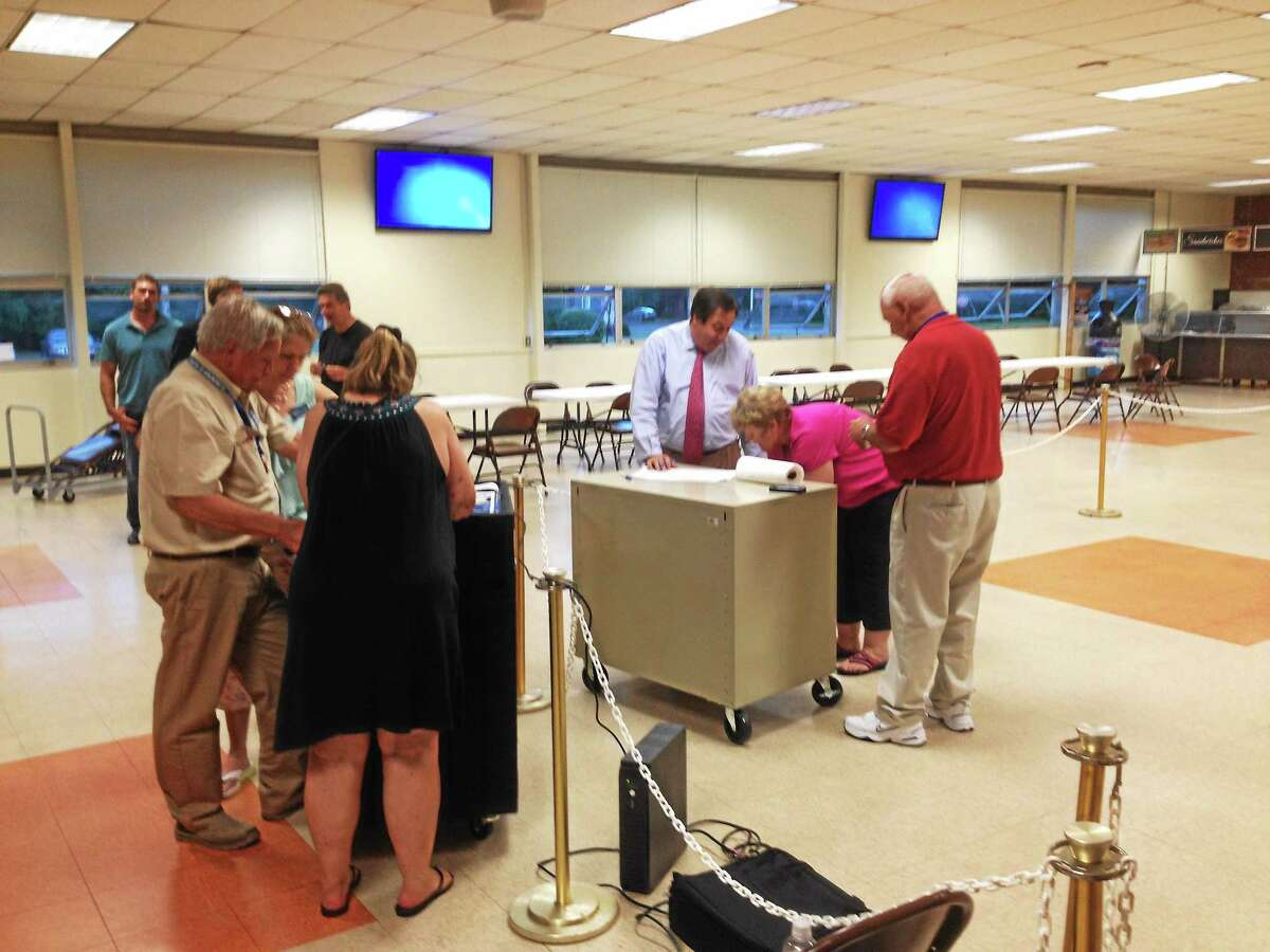 Jeff Mill - The Middletown Press East Hampton voters took to the polls Thursday to approve the third and final budget proposal.
