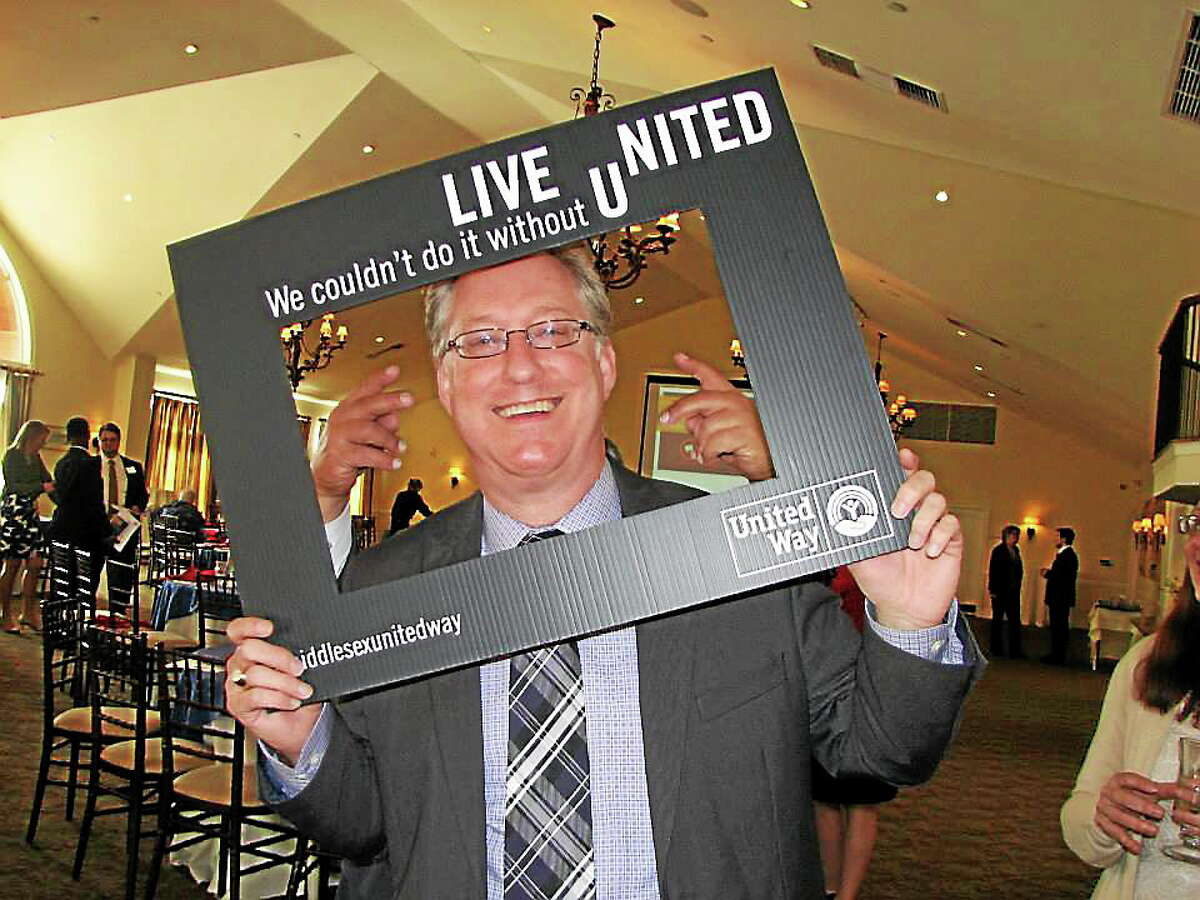 Courtesy photo Middlesex United Way of Middletown's Executive Director Kevin Wilhelm is pictured at the campaign award breakfast at The Riverhouse at Goodspeed Station.