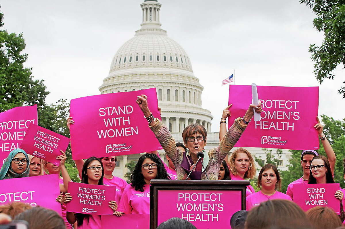 Rep. Rosa DeLauro, D-Conn., speaks at rally on Capitol Hill in Washington on July 11, 2013.