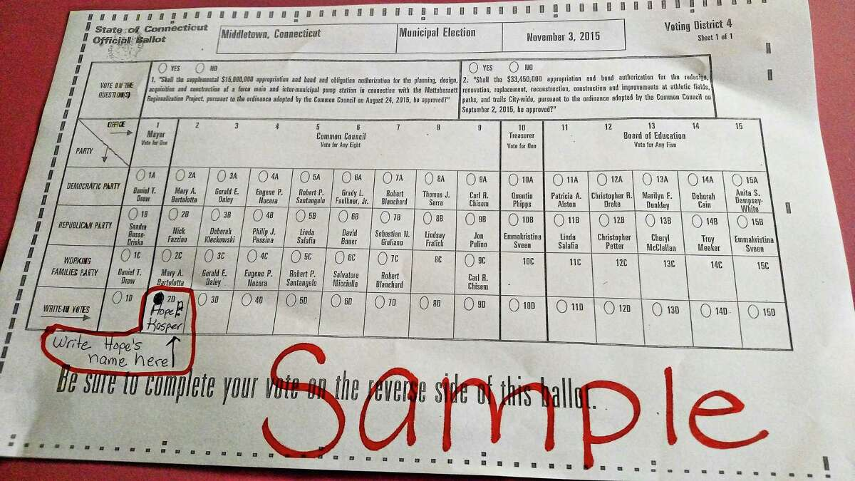 Middletown Common Councilwoman Hope Kasper is a write-in candidate on Election Day.