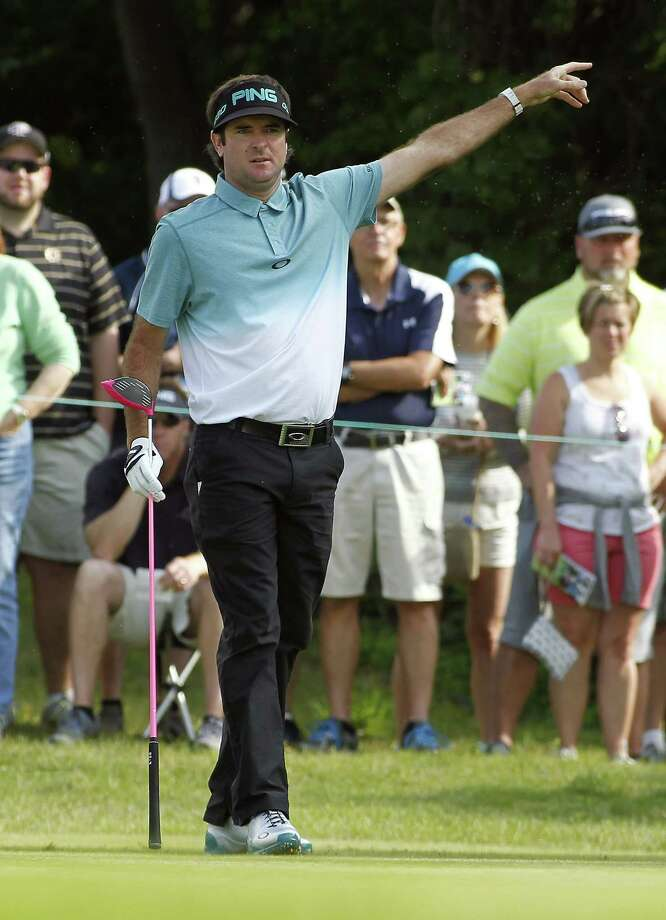 Leader Bubba Watson was drug tested following his 3-under 67 on Friday at the Travelers Championship. Photo: Stew Milne — The Associated Press  / FR56276 AP