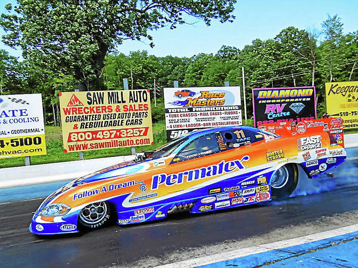 Submitted photo. Jay Blake, founder and crew chief of the Permatex/Follow A Dream Camaro Funny Car, will be at Jackson Chevrolet Co, 660 South Main St., Middletown on July 8 at 5:30 p.m.