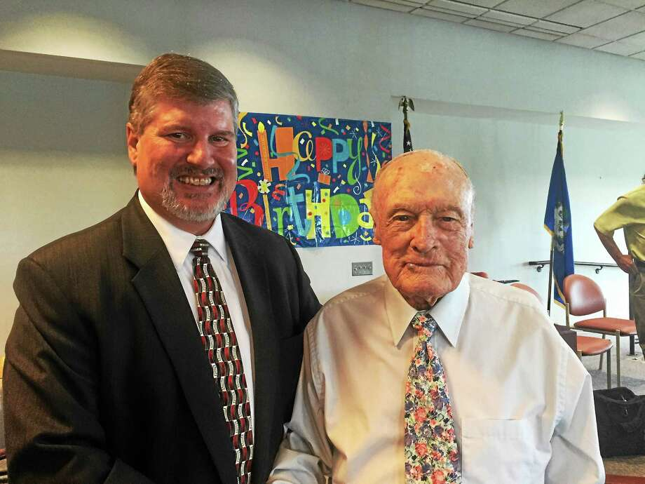From left, attorney John N. Montalbano and Judge Walter R. Budney Photo: Courtesy Photo