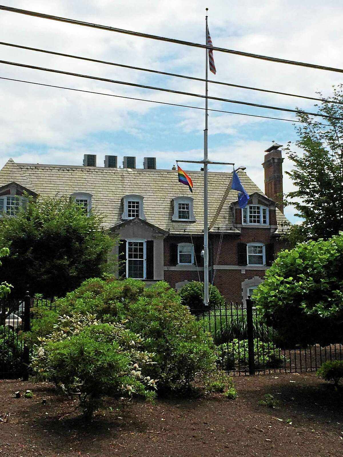 In recognition of the Supreme Court's ruling Friday, Gov. Dannel P. Malloy directed the LGBT pride flag to be flown at the Governorís Residence in Hartford.