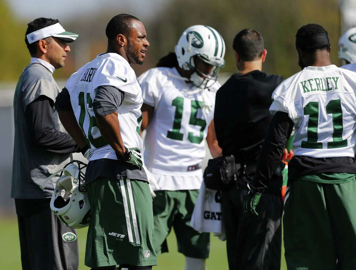 New York Jets receiver Percy Harvin (16) practices Monday in Florham Park, N.J.